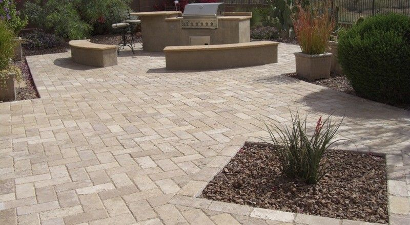 backyar patio paver designs | outstanding phoenix patio design ... - Pavers Patio Ideas
