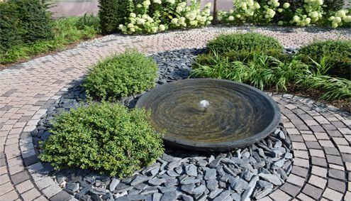 Springbrunnen Gartengestaltung Pinterest Springbrunnen - Steingarten Mit Springbrunnen