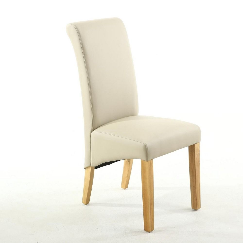 Outstanding The Alexa Matt Ivory Cream Faux Leather Scroll Back Design Pabps2019 Chair Design Images Pabps2019Com