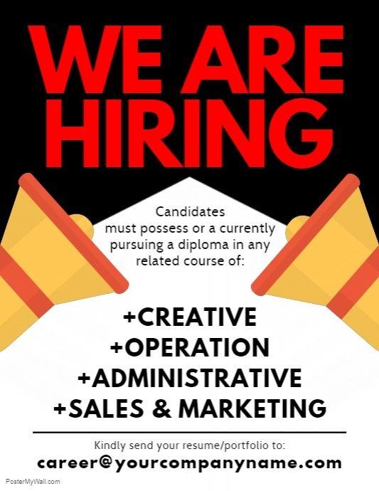 We Are Hiring Flyer | We are hiring. Flyer. Hiring poster