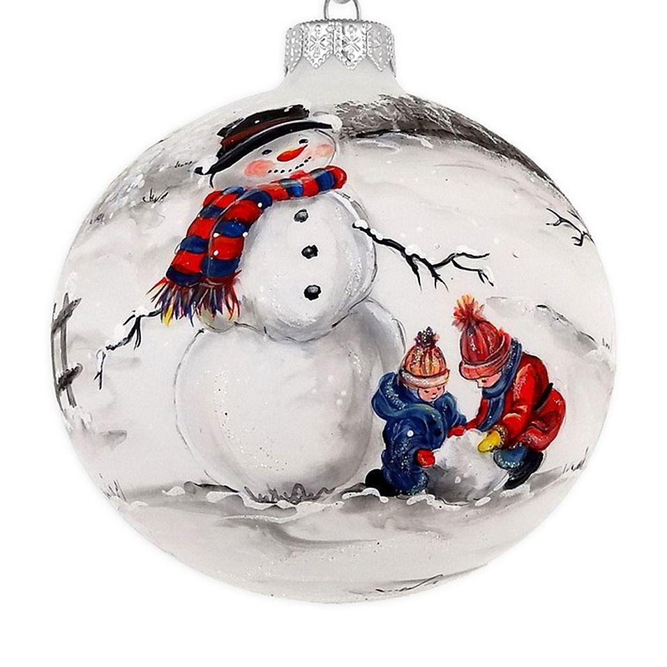 Badash Hand Painted Snowman 4 Christmas Glass Ornament Multi Painted Christmas Ornaments Handpainted Christmas Ornaments Christmas Ornaments