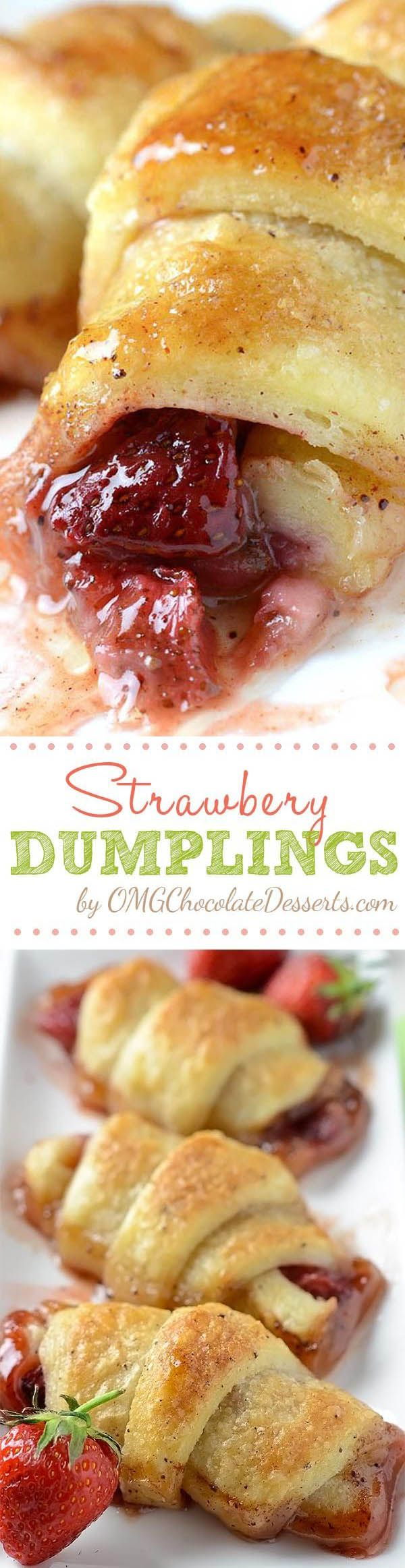 Strawberry Dumplings served with a scoop of vanilla ice cream will be perfect sp…