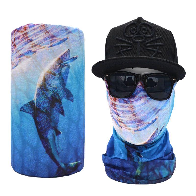 Fish Pattern Outdoor Sports Seamless Headwear Neck Gaiter