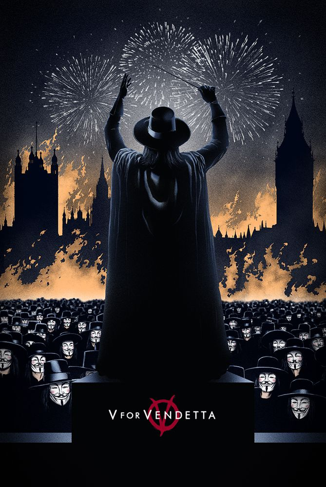 V for Vendetta poster by Marko Manev $60 Limited AP edition.