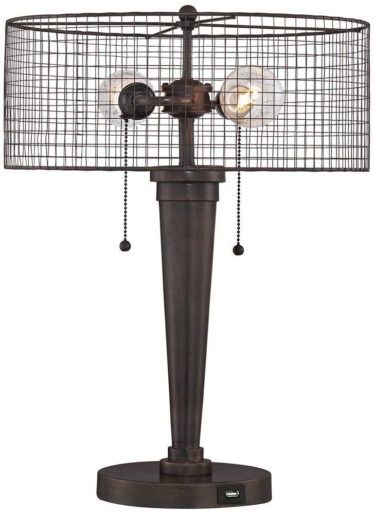 Robot Check Industrial Table Lamp Franklin Iron Works Table Lamp