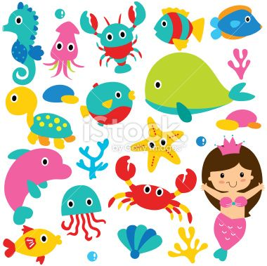 Vector File It Can Be Scaled To Any Sizes Without Losing Sea Animals Cute Animal Clipart Mermaid Vector