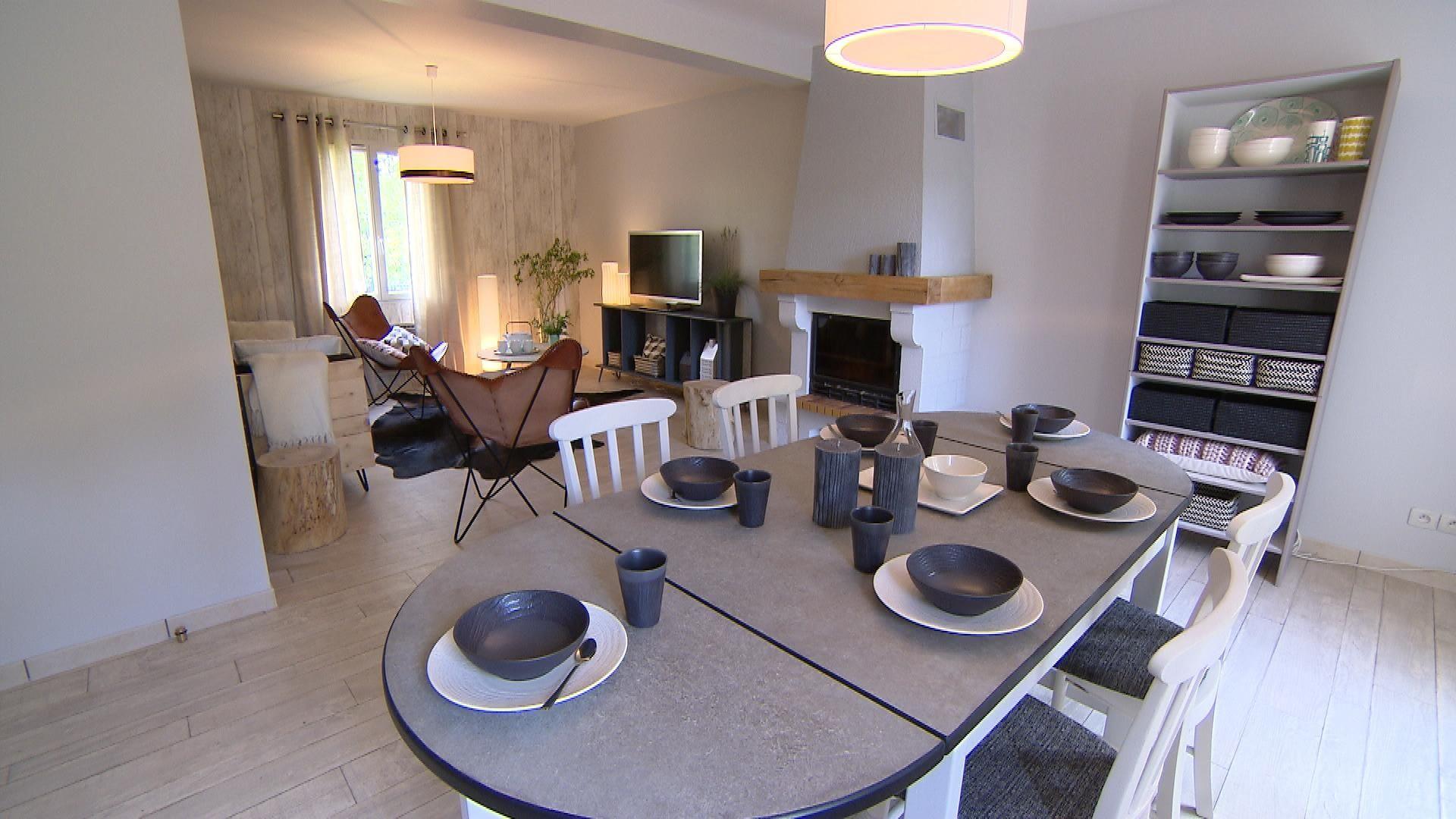 Deco Un Salon Salle Manger Dans Une Ambiance Nordique Avec L  # Salle Tv Nordique