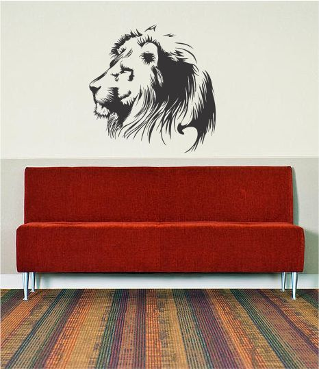 León Decal Sticker pared vinilo Animal jungle safari chico chico chica