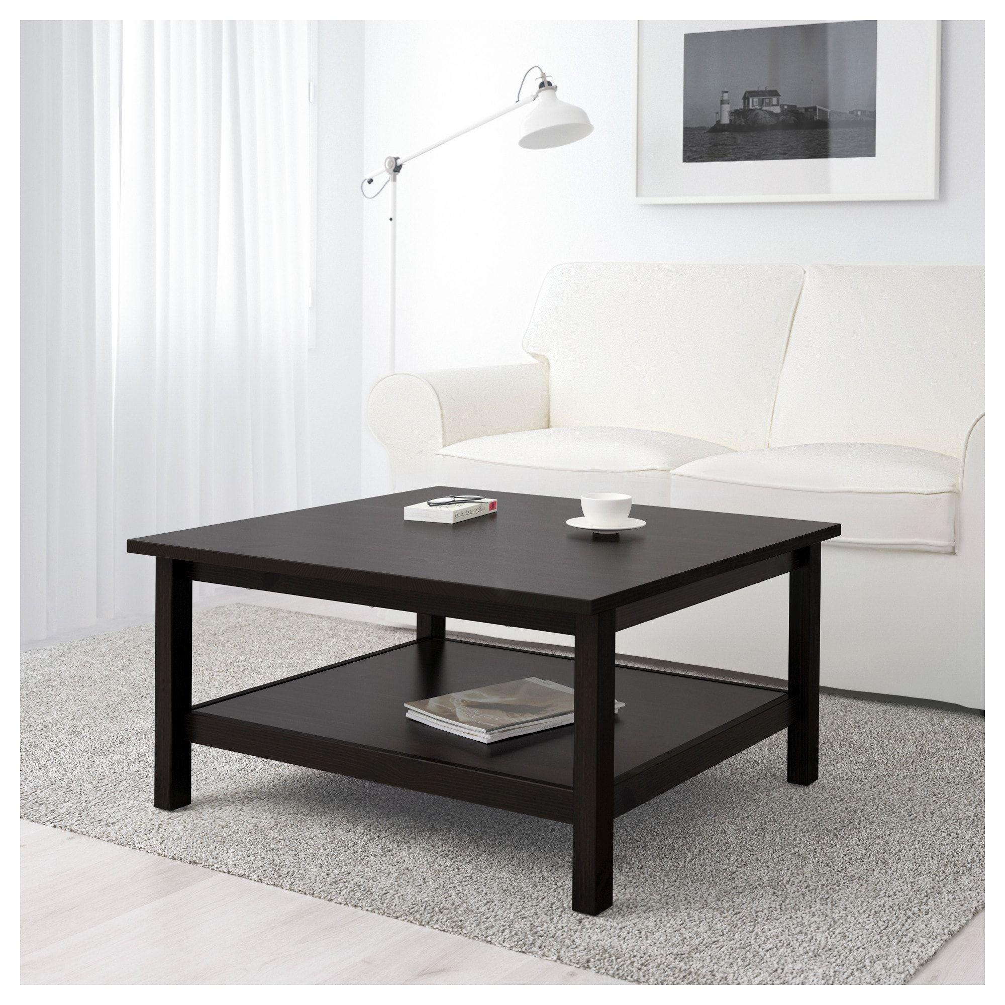 """HEMNES Coffee table blackbrown 35 3/8x35 3/8 """" in 2020"""