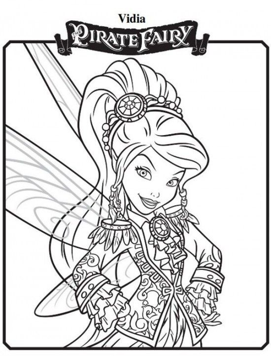 Vidia New Tinkerbell Pirate Fairy Coloring Pages 550x722 Picture ...