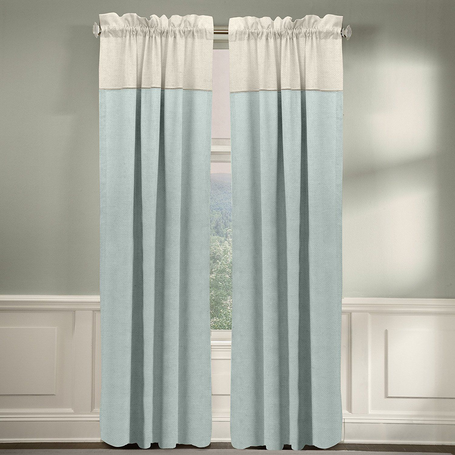Veratex The Monterey Window Collection Made In The U S A 100 Linen Living Room Rod Pocket Window Panel Curtain Panel Curtains Curtains Contemporary Curtains