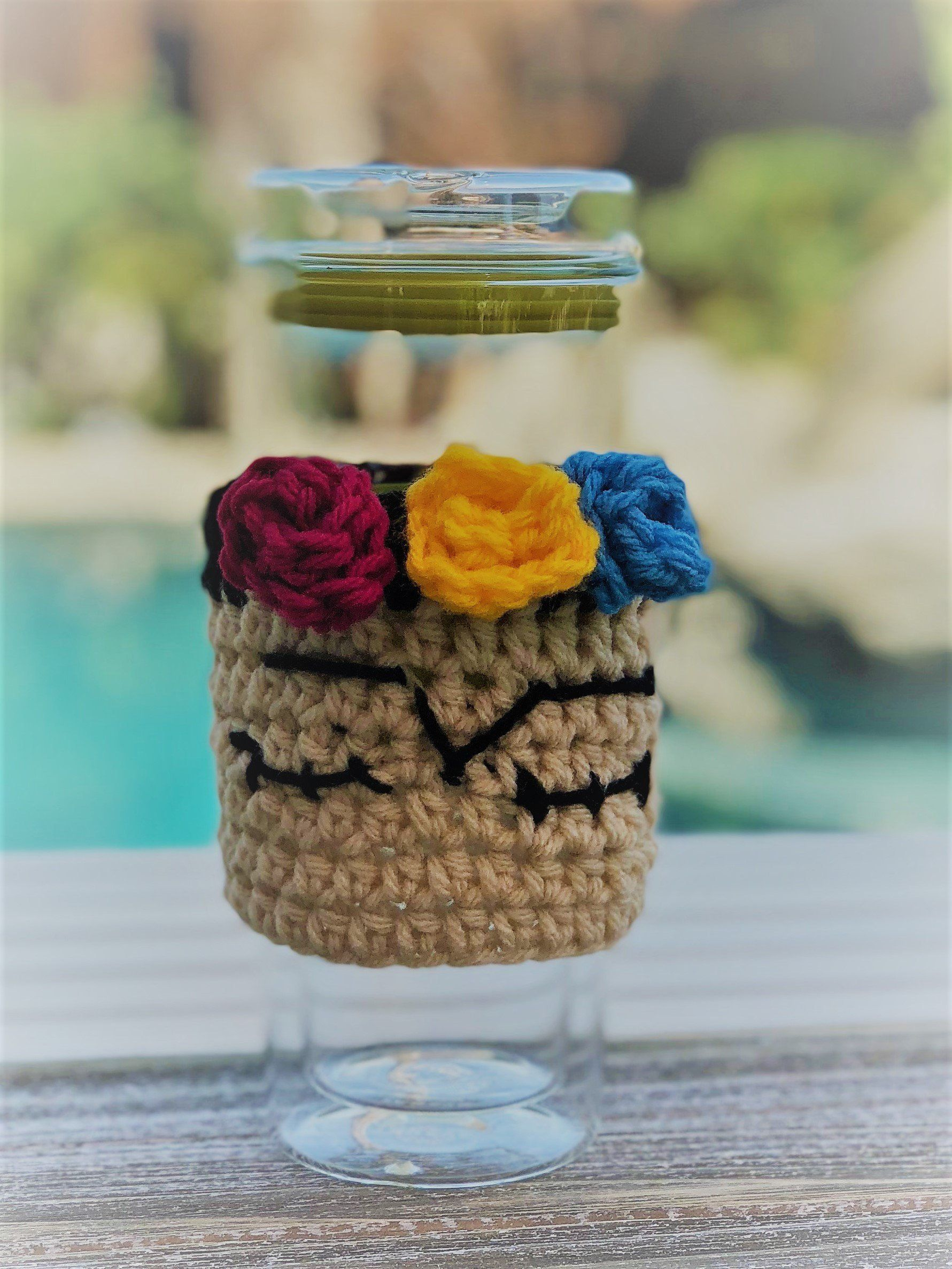 Frida Kahlo Inspired Cozy Cup /Ice Coffee Cozy/ Coffee