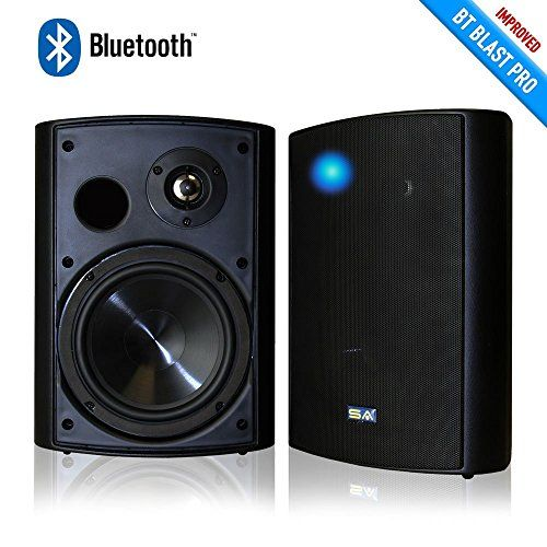 Sound Appeal Wireless Bluetooth Weatherproof Speakers Black 650 Inch Pair For Mo Wireless Outdoor Speakers Outdoor Bluetooth Speakers Best Outdoor Speakers