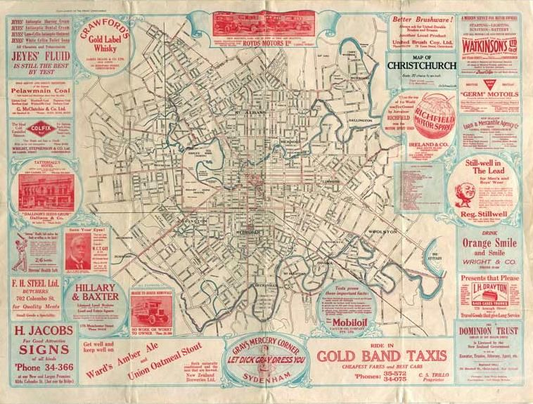 Christchurch Map 1930.