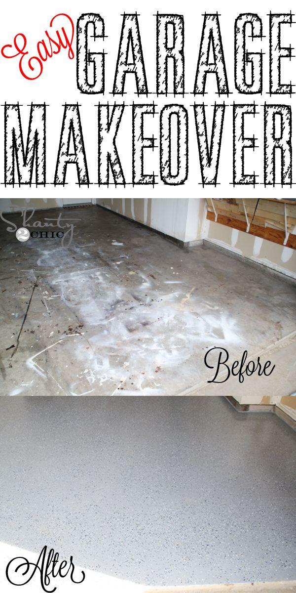 Easy Garage Makeover And A Giveaway Garage Makeover Floor