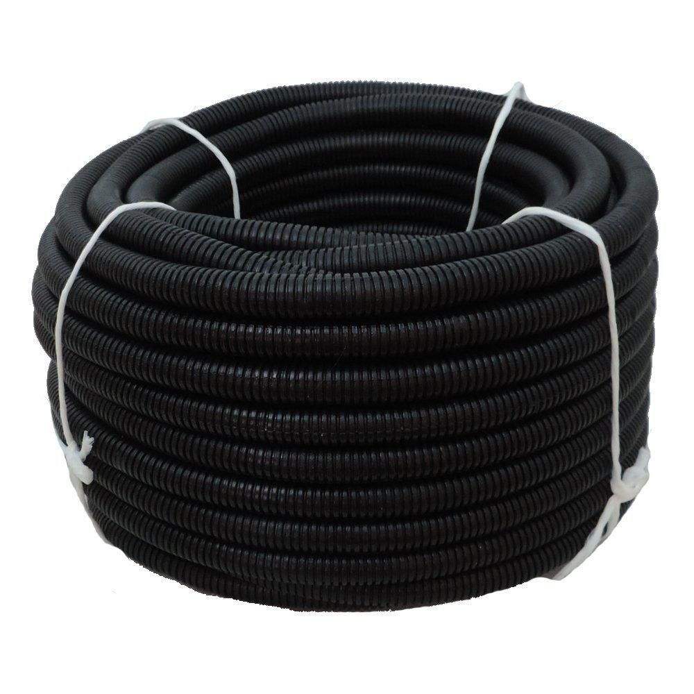 Hydromaxx 1 2 In Dia X 100 Ft Black Flexible Corrugated Polyethylene Non Split Tubing And Convoluted Wire Loom Cable One Pure Products Delicate