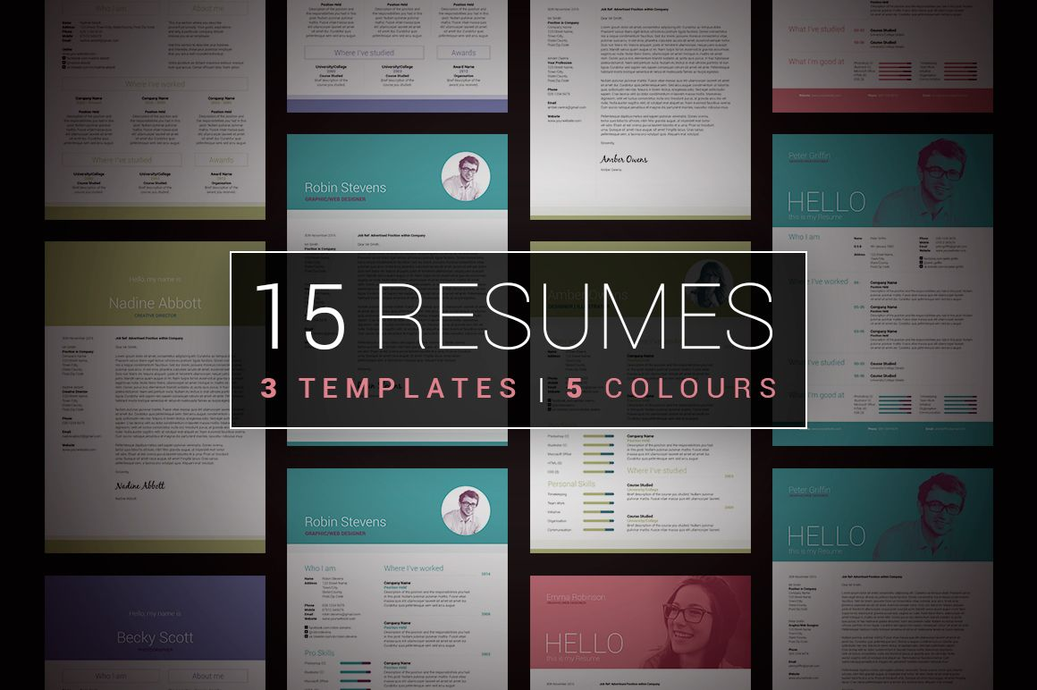 cv and covering letter%0A Collection of Resume   CV  u     Cover Letter Templates  Stylish  u     professional  design  Easy