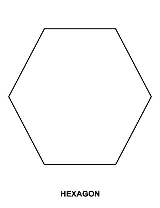 Hexagon coloring page | Shape coloring pages, Hexagon ...