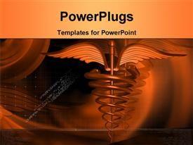 símbolo médico en el color de fondo del tema de PowerPoint