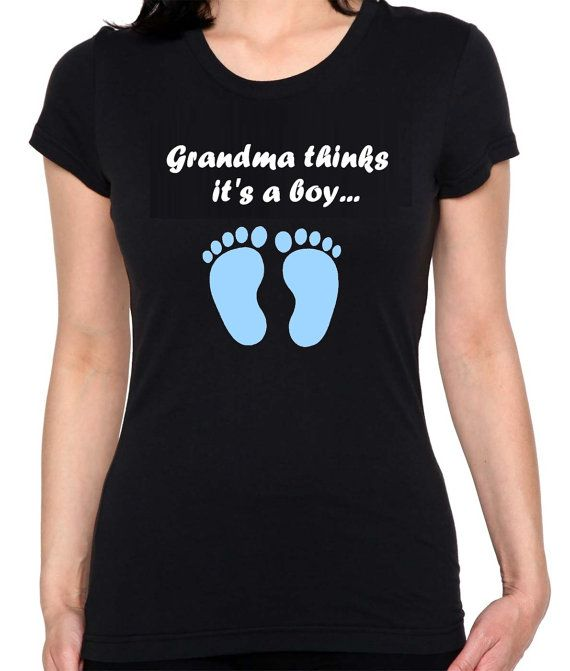 fd25b2d6d4 Grandma Thinks It's A Boy - Gender Reveal Party T-Shirt | Products ...