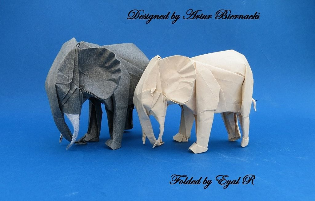 31 Origami Elephants to Fold for the #ElephantOrigamiChallenge | 655x1024