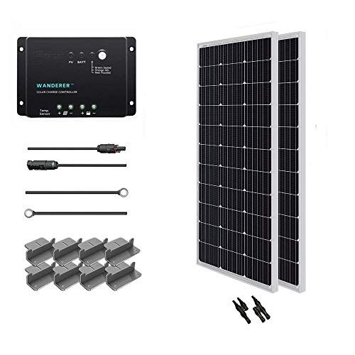 Renogy 200 Watt 12 Volt Monocrystalline Solar Starter Kit Https Www Amazon Com Dp B00bcrg22a Ref Cm Sw R Pi Dp U X Solar Panel Kits Solar Panels Solar Kit