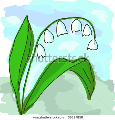 Gallery For Gt Simple Lily Of The Valley Drawing Lily Of