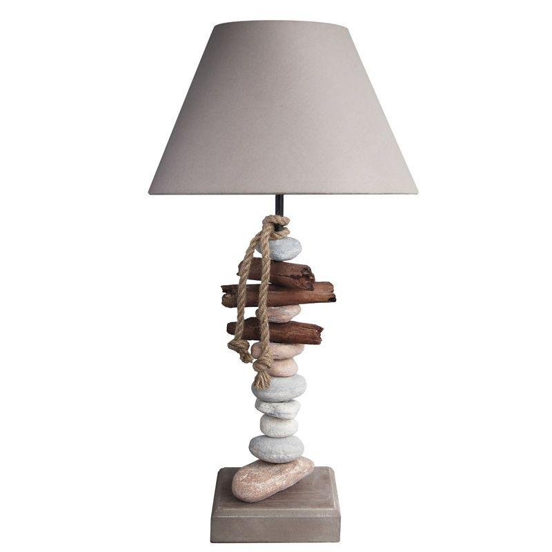 Lampe bois flotte galet benodet | Lampes | Pinterest | Lampe bois ...
