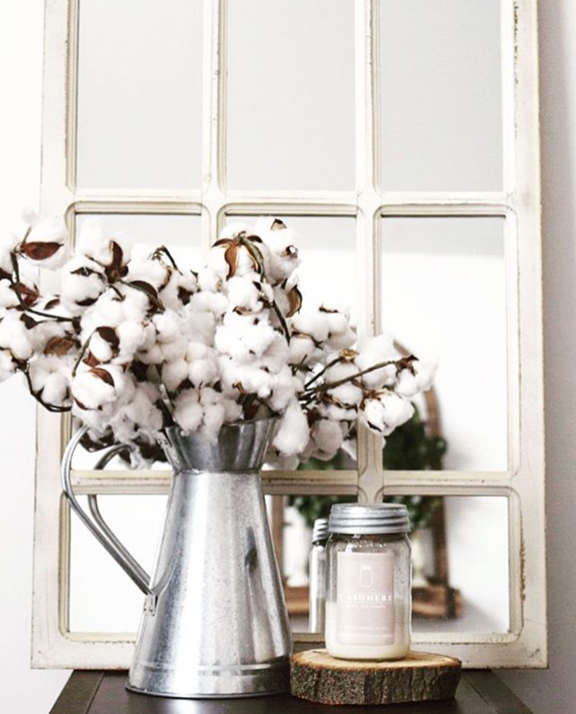 61e543b30baf Stay cozy all year round with Antique Candle Works handmade soy candles!  Love this candle setting with cotton stems! Gorgeous farmhouse details to  add to ...