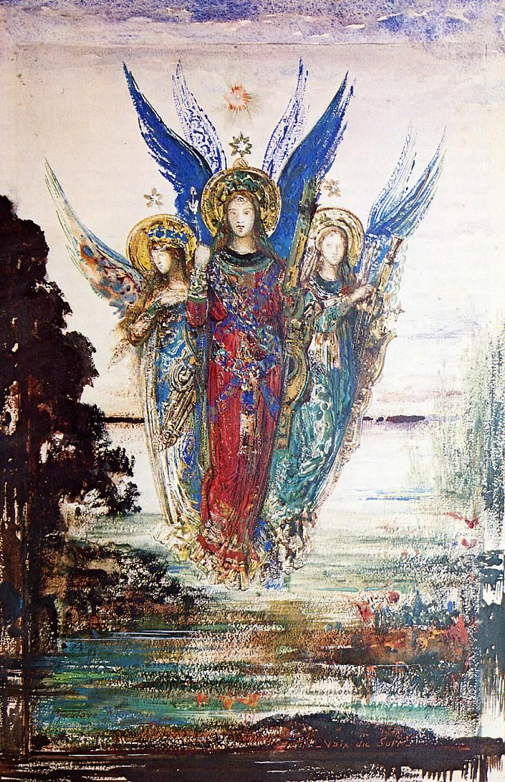 Gustave Moreau, Voices of Evening, Angels.