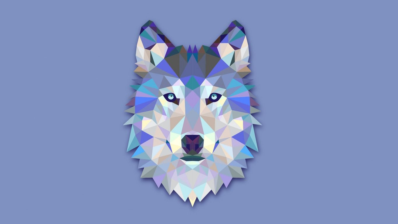 Geometric Animal Wallpaper 74 Images: Download Wallpaper The Wolf's Head, Abstraction, Wolf