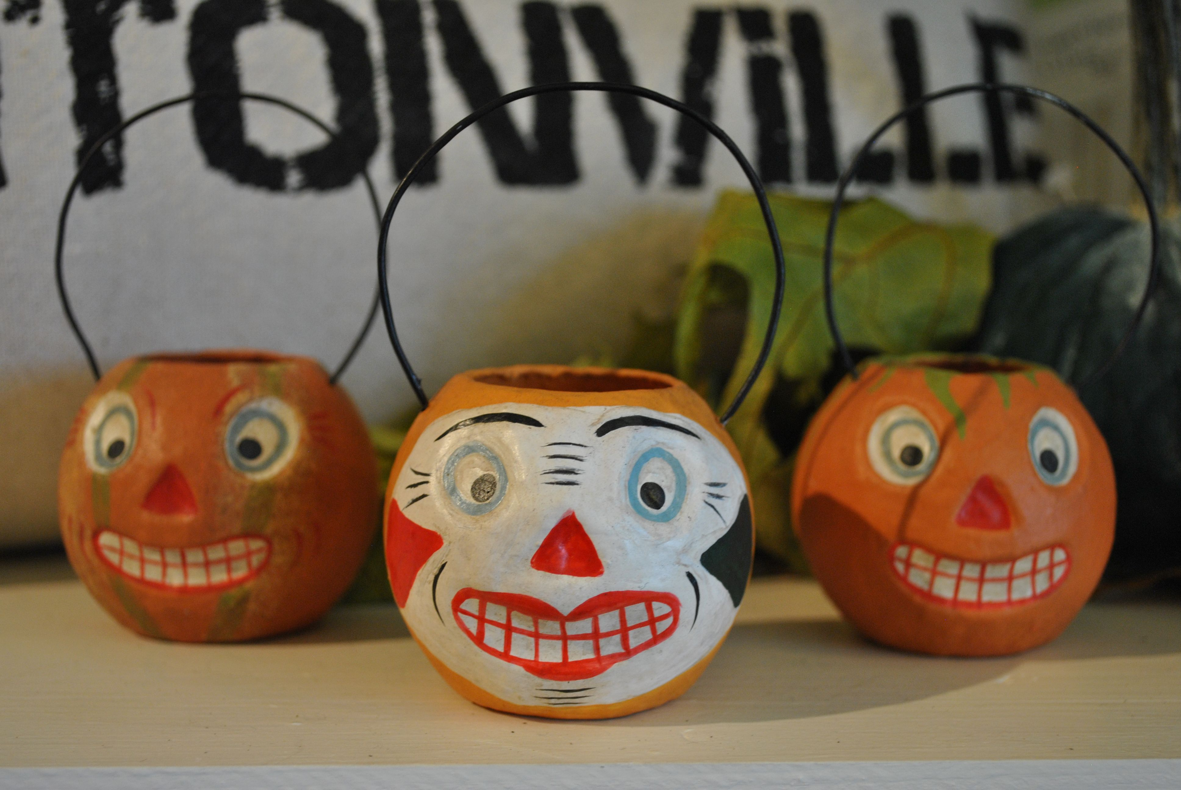 Vintage inspired Halloween decorations fill the store at the moment - fall and halloween decorations