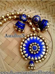 Image result for terracotta jewellery designs for sarees