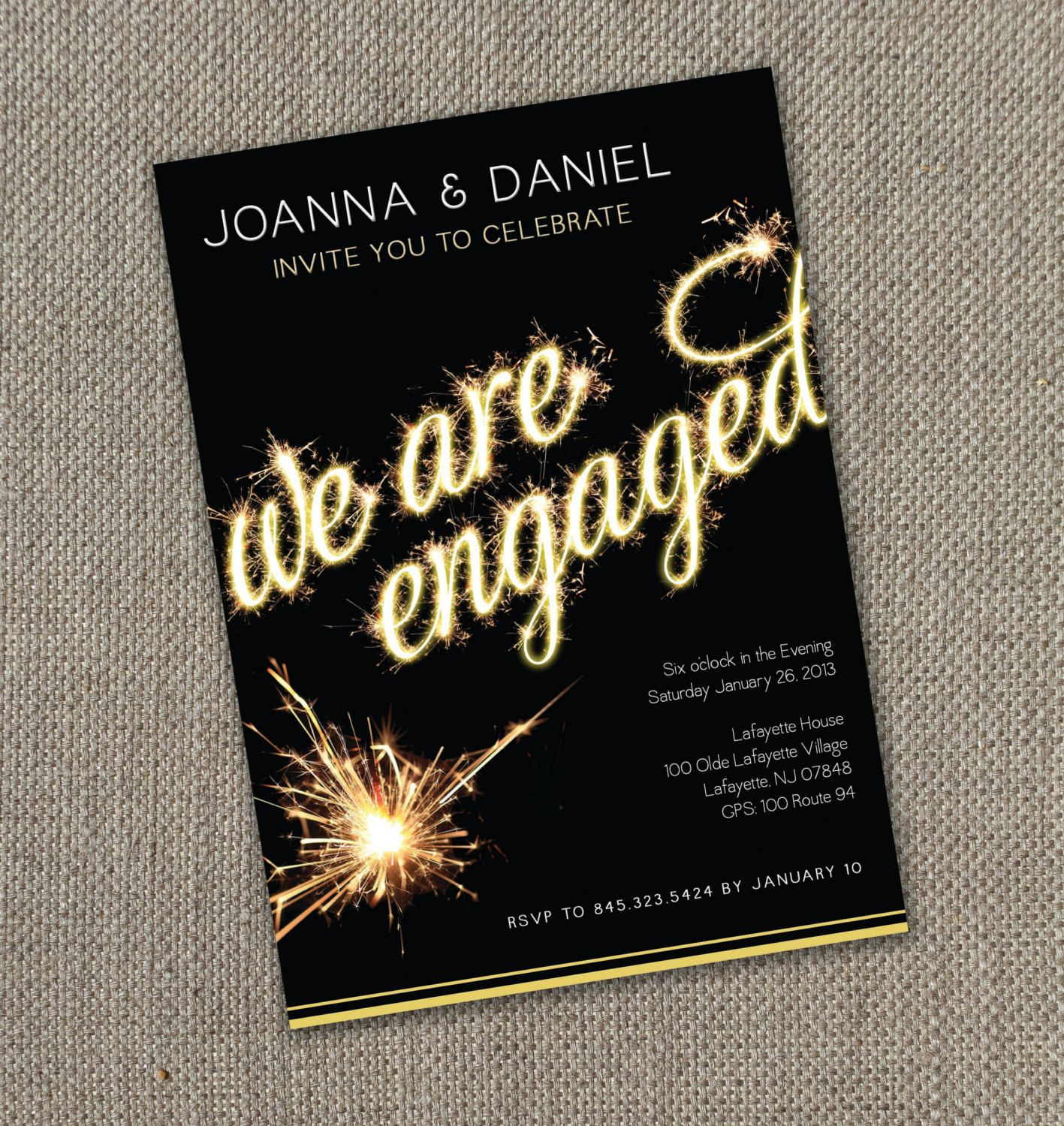 Fireworks – Engagement Party Invitation (Digital file ...