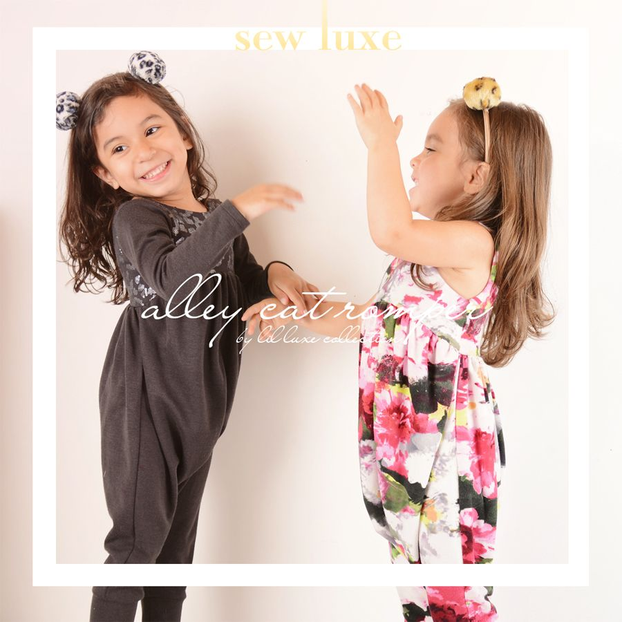 Alley Cat Romper | Lil Luxe Collection | Anika and isabel | Pinterest