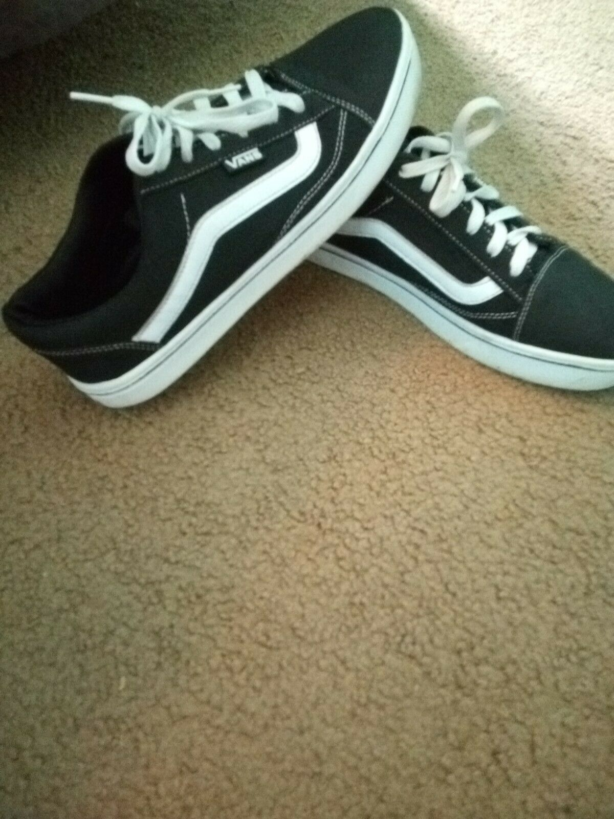 Details about New Men women Vans Old Skool Black Skateboarding Shoes Classic Canvas Suede