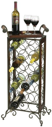 Howard Miller 655 147 Wine Storage Butler The Wine Butler By Howard Miller Is A Wrought Iron And Wood Floo Standing Wine Rack Wine Rack Design Metal Wine Rack