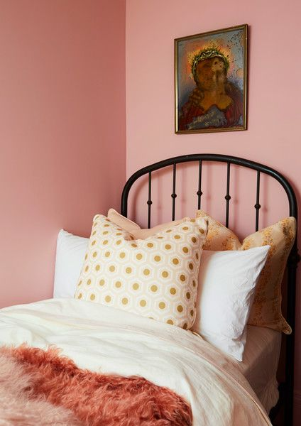 Think Pink | Brooklyn brownstone, Farrow ball and Bedrooms
