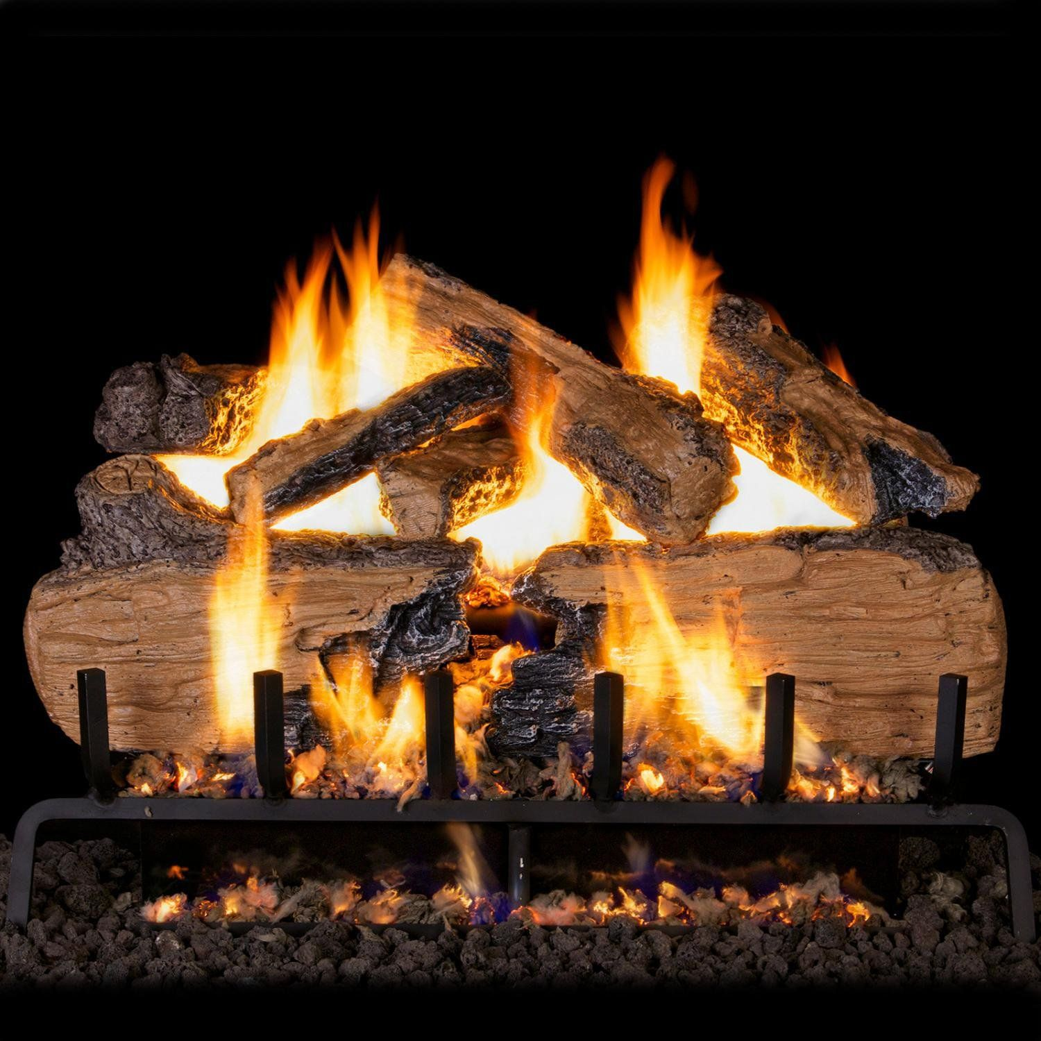 Peterson Real Fyre 30inch Charred Split Oak With Vented Propane