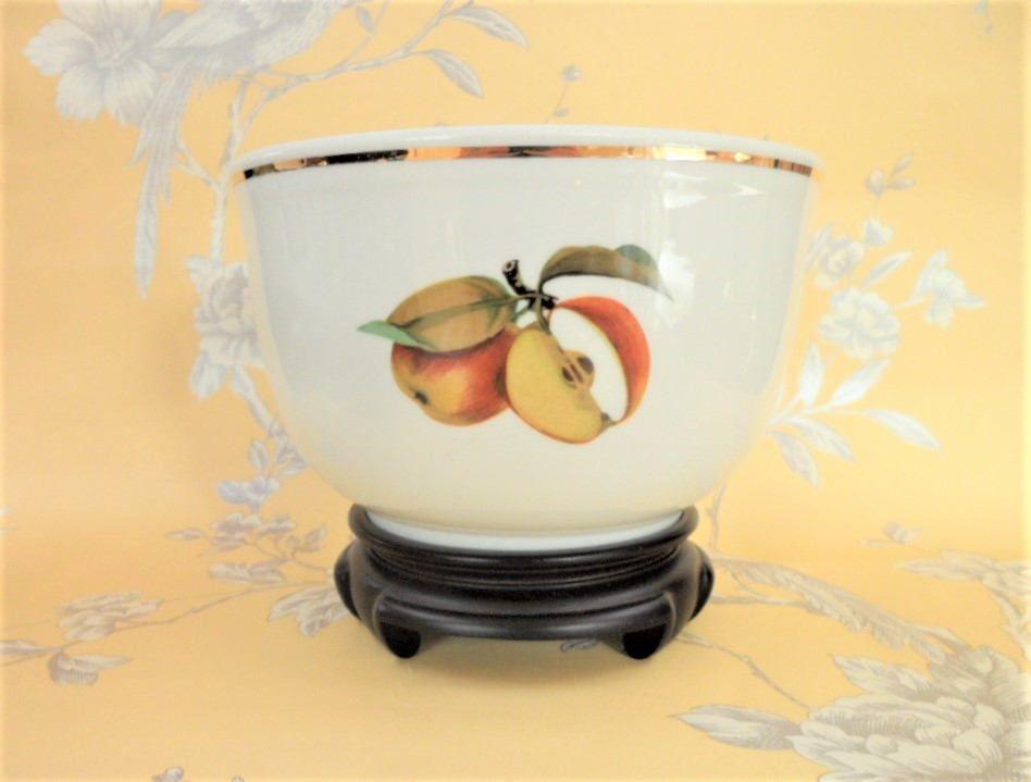 Royal Worcester Evesham Pudding Bowl Mixed Fruit Pattern Vintage Porcelain  Serving Oven To Table Ware
