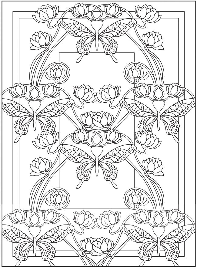 Creative Haven Art Nouveau Designs Collection Coloring