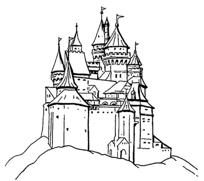 Burgen und Schlösser   Hier seid Ihr gefragt   Malvorlagen ...