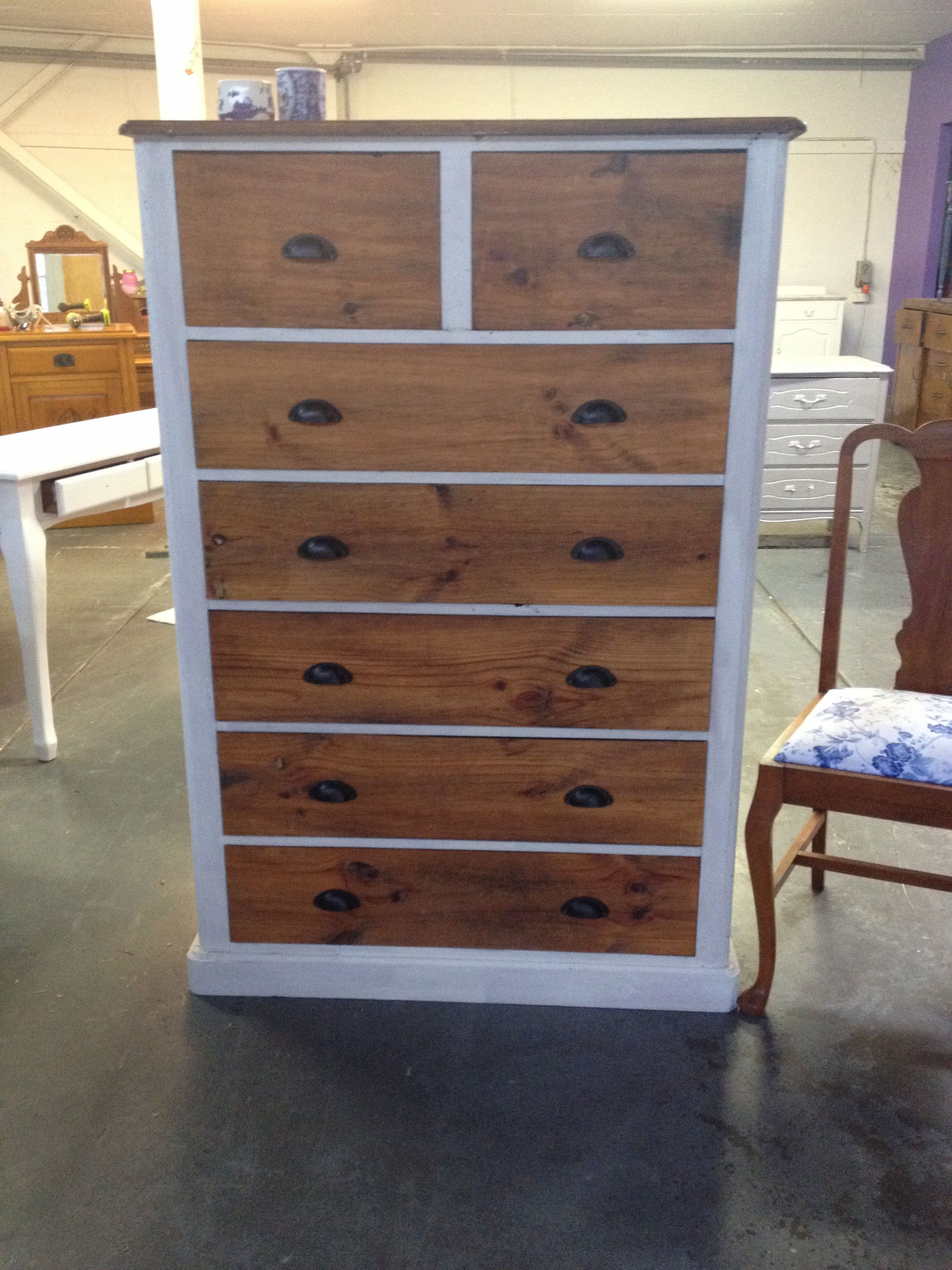 rustic tallboy restyled by tyler belle designs upcycled furniture rh pinterest com