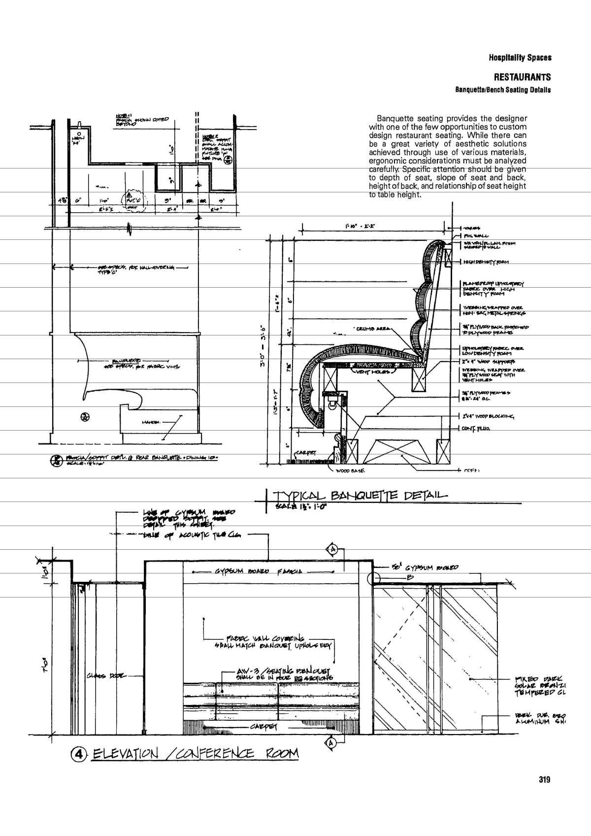 Banquette Bench Seating Details Concept Diagram Standard Electric Baseboard Wiring Diagrams 120 6feet Timesaverstandardsforinteriordesign Page 0329