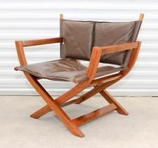 Mid Century Scandinavian Norway Westnofa Leather Folding Director S Chair Rare Chair Leather Chair Outdoor Chairs
