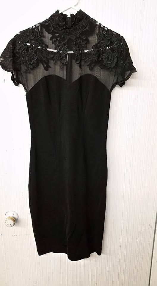 Black sheath cocktail dresses size 8