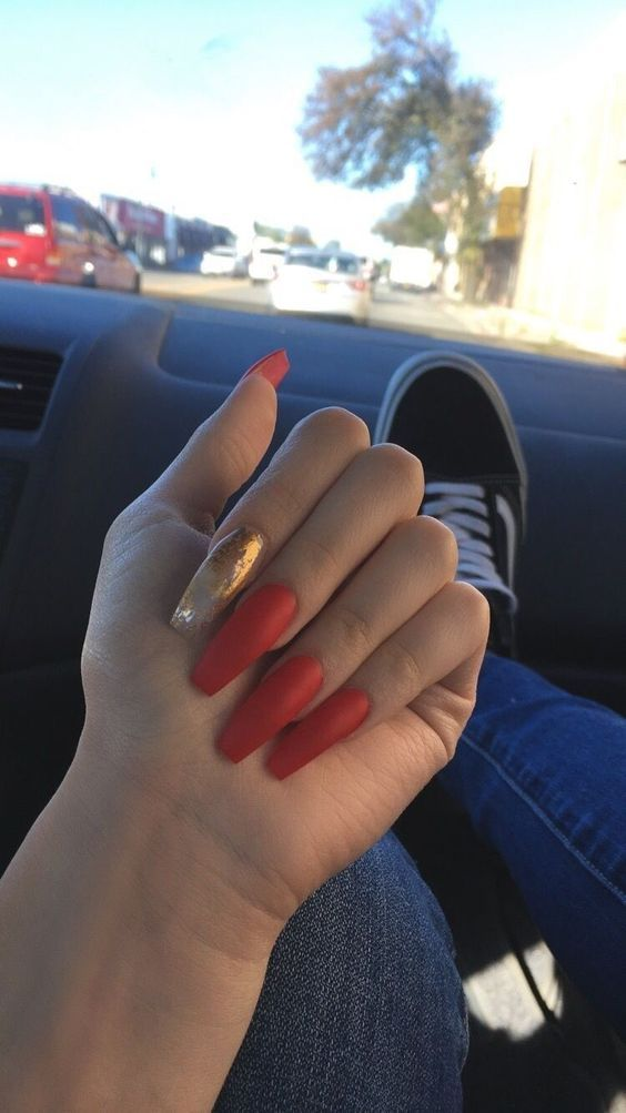 55 Acrylic Coffin Nail Designs For Fall and Winter   Pinterest ...