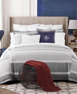 Tommy Hilfiger Woodford Reversible Stripe Comforter Sets Macys Com Duvet Sets Comforter Sets Striped Duvet