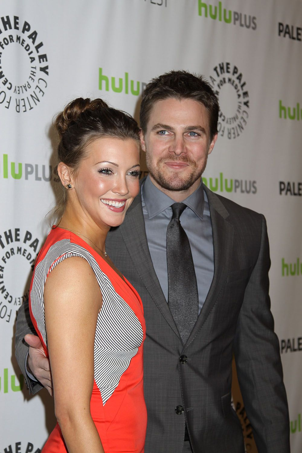 stephen amell and katie cassidy | Stephen Amell and Katie Cassidy at the 30th Annual PaleyFest: The ...