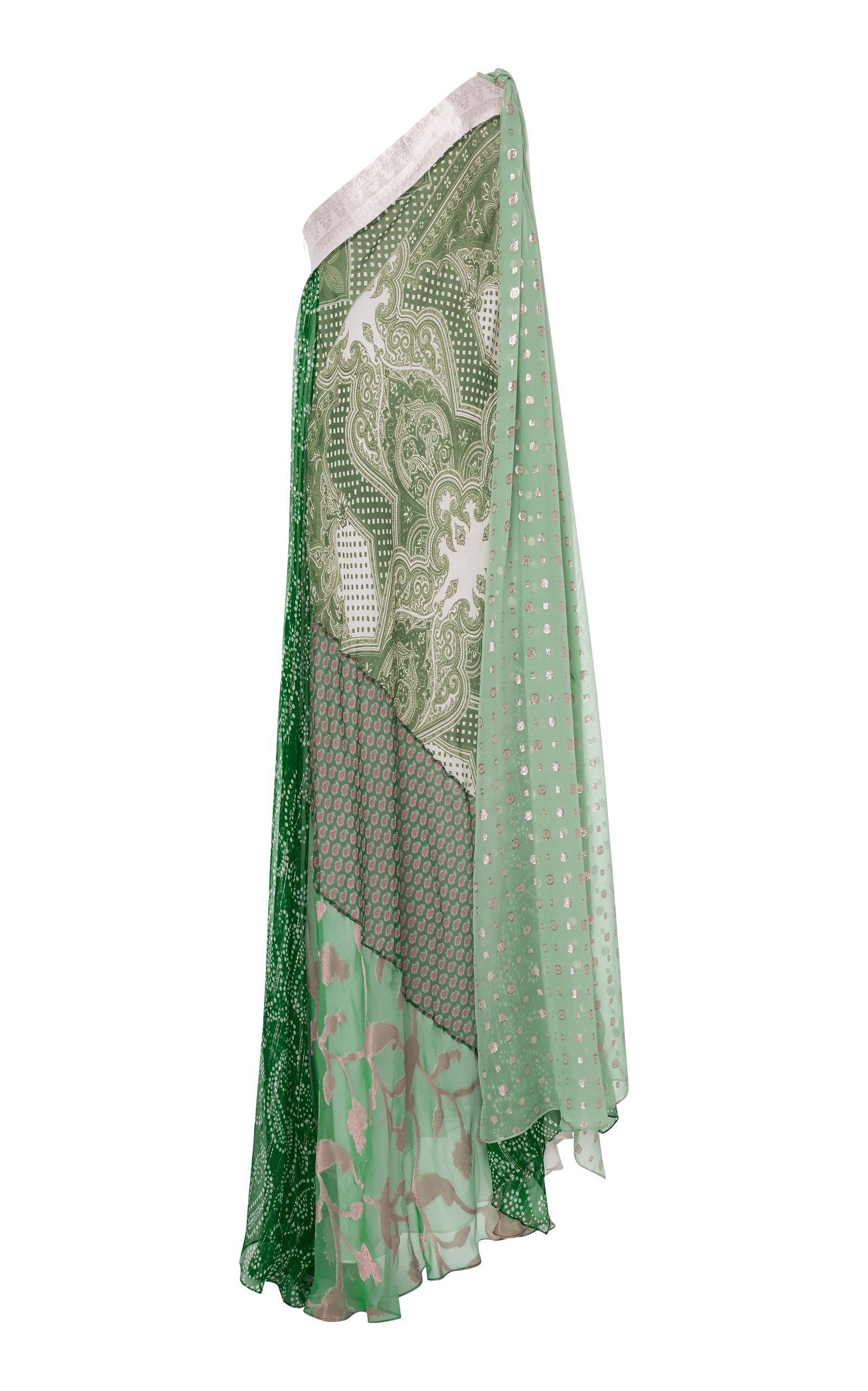 One-Shoulder Silk-Blend Gown Etro Sale Latest Discount For Cheap Cheap Sale Best Prices 9BtuRSuxfI